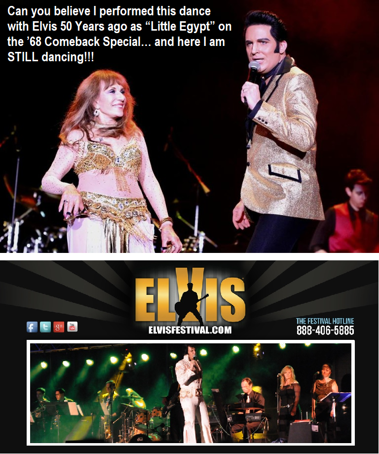 Tanya with Elvis